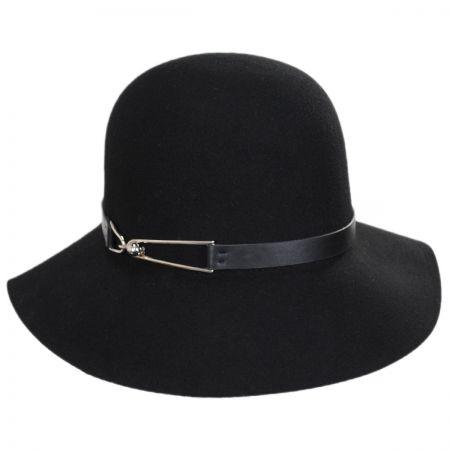be9254d8cb2 San Diego Hat Company Buckle Trim Wool Cloche Hat