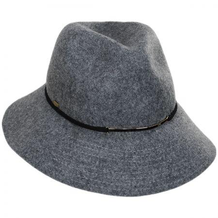 Safari Gold Accent Wool Felt Fedora Hat alternate view 1
