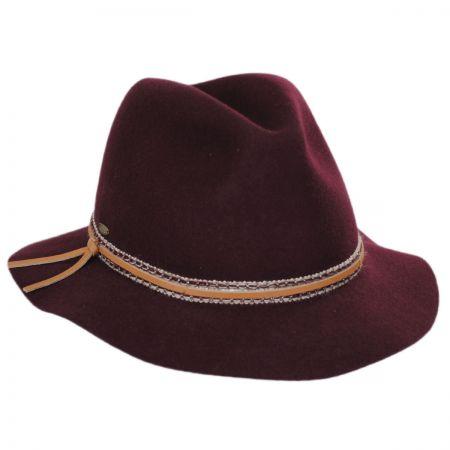 Safari Ribbon and Leather Wool Fedora Hat alternate view 5
