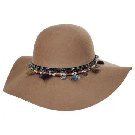 Scala Floppy Tassel Trim Wool Sun Hat