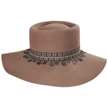Scala Planter Tassel Trim Wool Gambler Hat