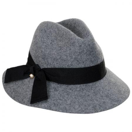 Betmar Bardot Wool Fedora Hat