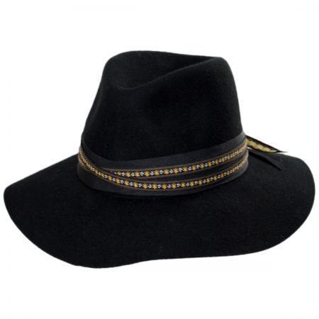 Betmar Carolena Wide Brim Wool Fedora Hat