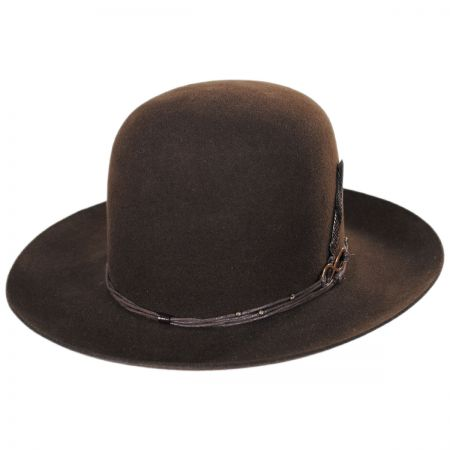 Biltmore Nomad Wool Felt Open Crown Fedora Hat 415467c7481
