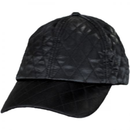 Scala Quilted Satin Baseball Cap