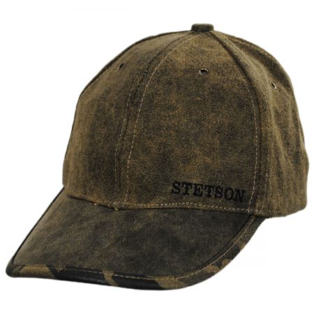 Stetson Tarp and Camo Baseball Cap