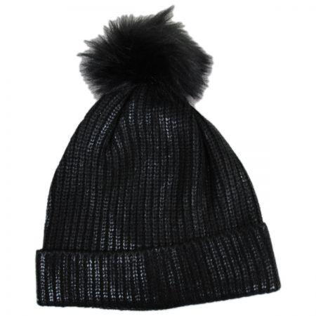 Scala Metallic Pom Beanie Hat