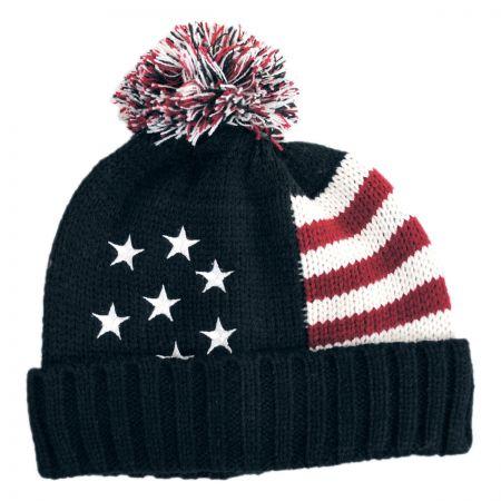 Scala US Flag Beanie Hat