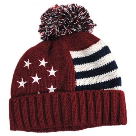 US Flag Beanie Hat alternate view 1