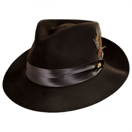 57323937696b3 Brown Leather Fedora at Village Hat Shop