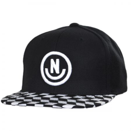 Daily Smile Pattern Snapback Baseball Cap alternate view 3