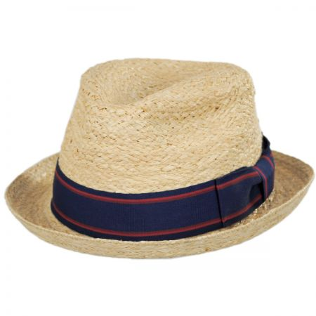 Jaxon Hats Golden Hill Raffia Straw Fedora Hat