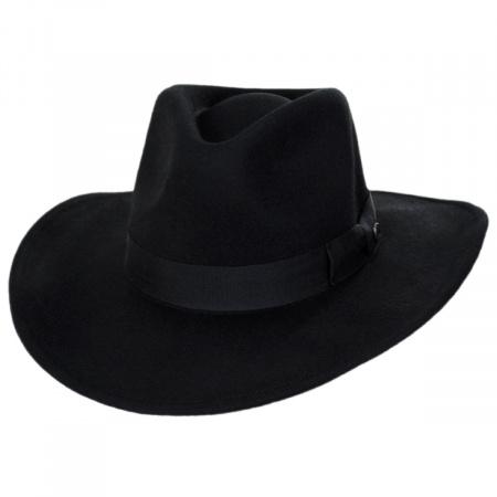 Black Wide Brim Fedora at Village Hat Shop 2fa6a466fcd