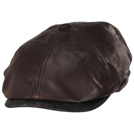 Leather Suede Newsboy Cap