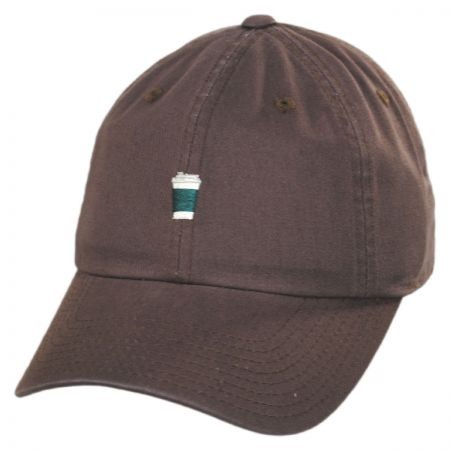 3c17e8b10ef55 American Needle Coffee Micro Cotton Strapback Baseball Cap