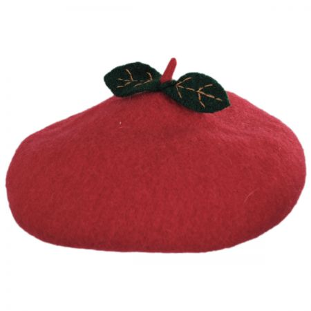 San Diego Hat Company Kids Apple Wool Beret Hat