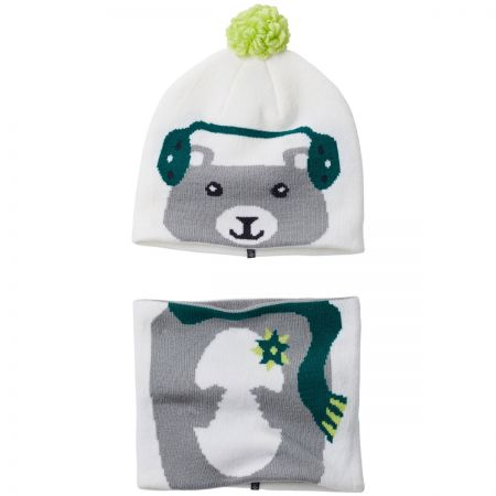 Kids Winter Animal Beanie and Neck Gaiter Match Set alternate view 2