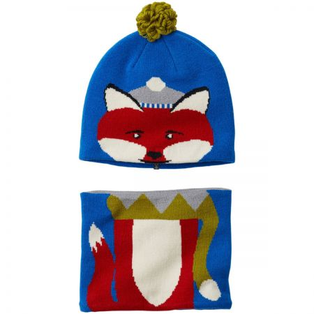 Kids Winter Animal Beanie and Neck Gaiter Match Set alternate view 1
