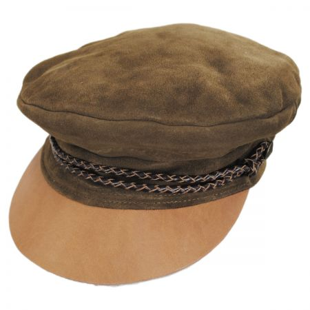 Kayla Leather Suede Fiddler Cap alternate view 38