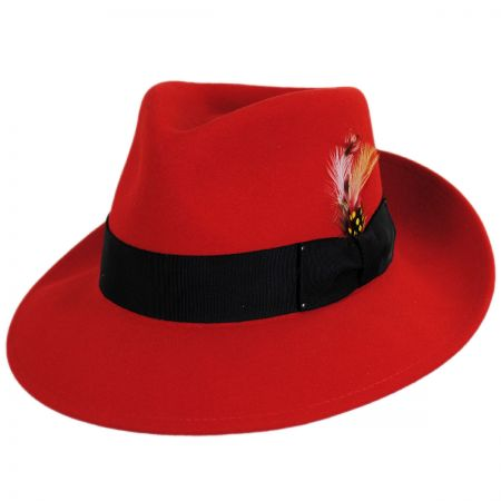 Red Wool Fedora at Village Hat Shop fa800cc6931