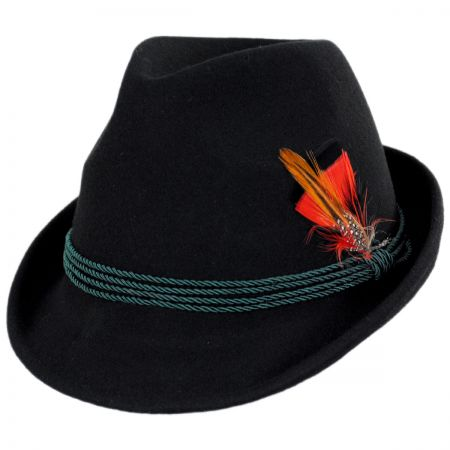 Kenny K Bavarian Alpine Wool Felt Trilby Fedora Hat