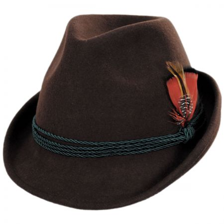 Bavarian Alpine Wool Felt Trilby Fedora Hat alternate view 5