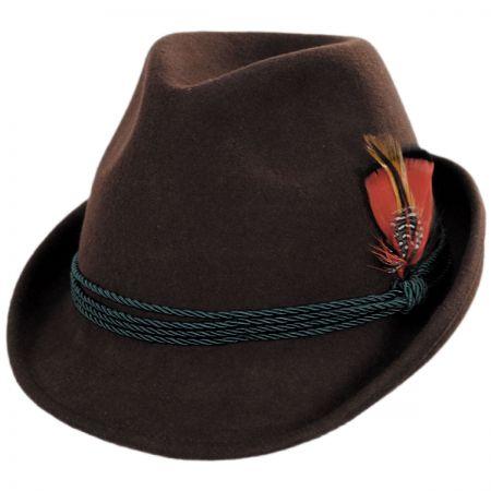 Bavarian Alpine Wool Felt Trilby Fedora Hat alternate view 1