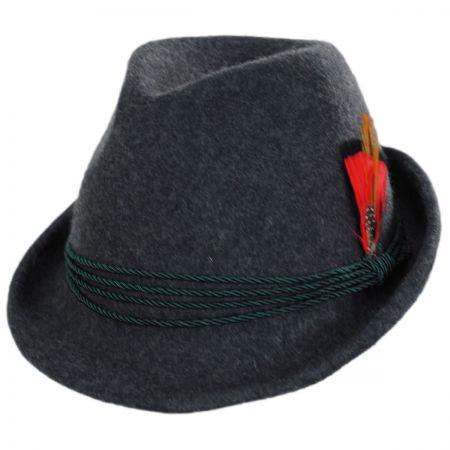 Bavarian Alpine Wool Felt Trilby Fedora Hat alternate view 9