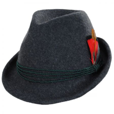 Bavarian Alpine Wool Felt Trilby Fedora Hat alternate view 21