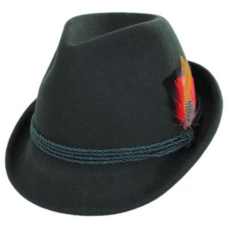 Bavarian Alpine Wool Felt Trilby Fedora Hat alternate view 25