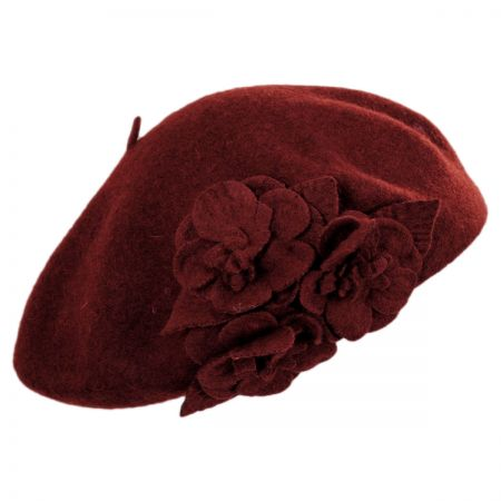 Flower Wool Beret alternate view 5
