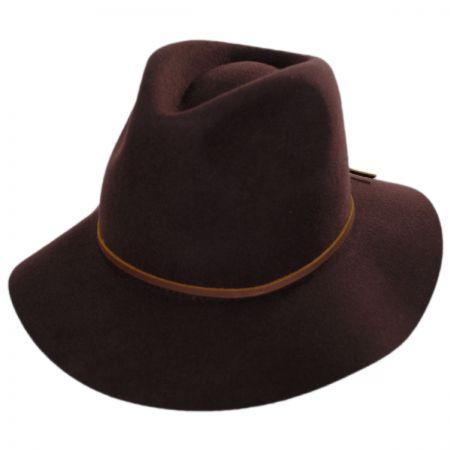 Brixton Hats Wesley Wool Felt Floppy Fedora Hat