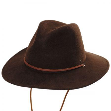 Wide Brim Brown Fedora at Village Hat Shop bc7651a80ab