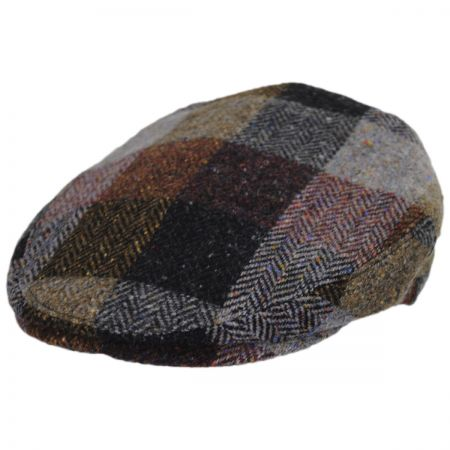 Herringbone Squares Donegal Tweed Wool Ivy Cap alternate view 1