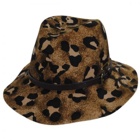 Cheetah Wool Felt Gambler Hat alternate view 1