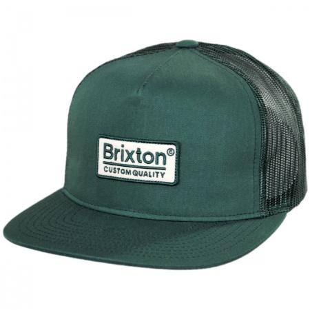 Brixton Hats Palmer Mesh Trucker Snapback Baseball Cap