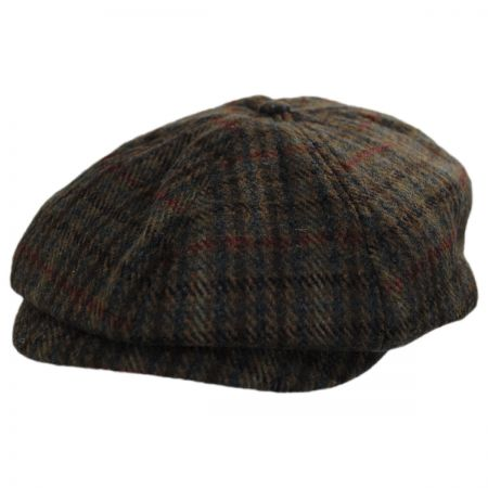 Brixton Hats Brood Plaid Wool Blend Newsboy Cap