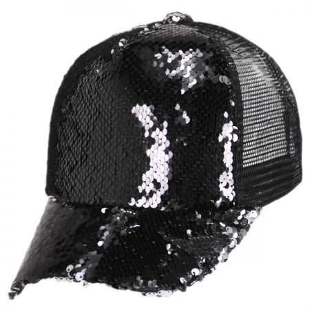 Something Special 2-Tone Reversible Sequin Trucker Snapback Baseball Cap 6c892fdcdf