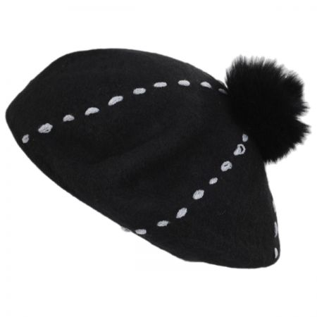 Something Special Stitch Pom Wool Beret