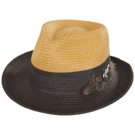 Carlos Santana Rue Braid Toyo Straw Fedora Hat