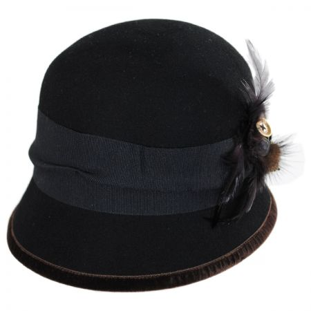 Toucan Collection Zip Button Wool Cloche Hat