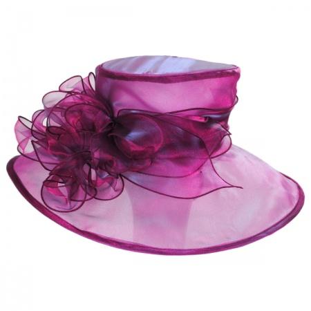 Scala Laurelie Organza Boater Hat
