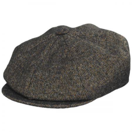 Donegal Brown Tweed Newsboy Peaky Blinders Flat Cap Bakerboy Wool Gatsby Hat