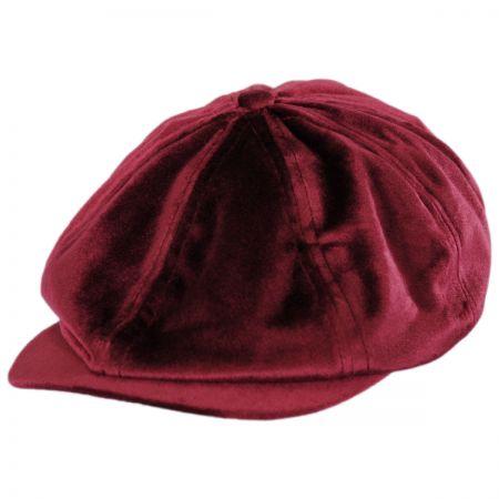 Brixton Hats Brood Velour Newsboy Cap