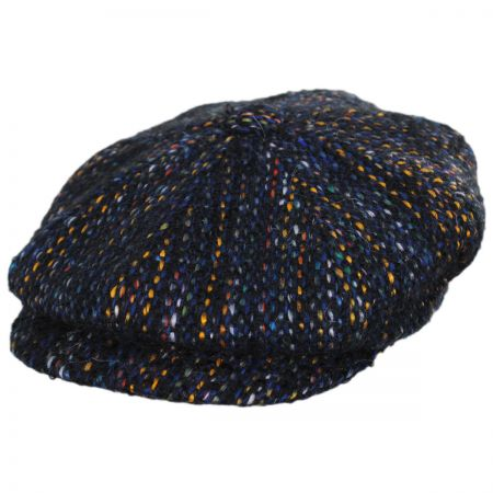 City Sport Caps Donegal Striped Wool Newsboy Cap