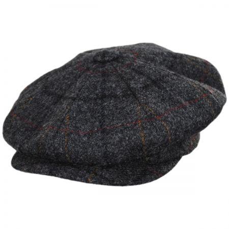 British Check Wool Newsboy Cap