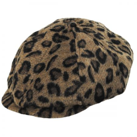 Brixton Hats Brood Leopard Wool Blend Newsboy Cap