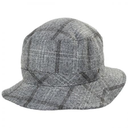 Hardy Plaid Wool Blend Bucket Hat alternate view 1