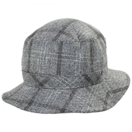 Hardy Plaid Wool Blend Bucket Hat alternate view 5