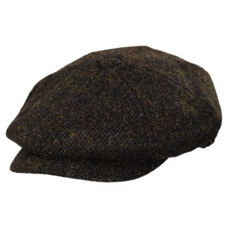 Jaxon & James Harris Tweed Arnol Wool Newsboy Cap